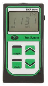 par meter with integrated sensor sun system sunlight supply