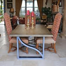 kitchen ancient live edge steel dining table design steel
