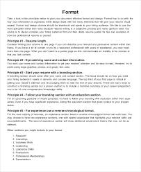 Best Format For Resumes by Resume Format 17 Free Word Pdf Documents Download Free