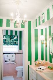 decorate with these hot colors for fall 2015 beverly hills hotel decor style pink green stripes bathroom vintage california style better decorating bible blog
