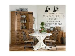 Joanna Gaines Wallpaper Magnolia Home By Joanna Gaines Farmhouse Round Table With X Shaped