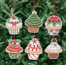 amazon com janlynn christmas cupcake ornaments counted cross