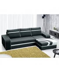 canapé angle droit en tissu savanah noir et pvc viper dya canapés d angles pas chers dya shopping fr
