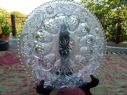glass deviled egg plate vintage duncan miller glass deviled egg plate from