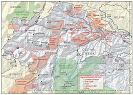 Colorado County Map by Clear Creek County Colorado Geological Survey