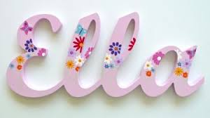 themed letters stix and stones baby scripted name plaque wooden letters for