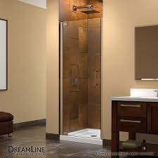 Clear Shower Door by Shop Dreamline Elegance 27 In To 29 In Frameless Brushed Nickel