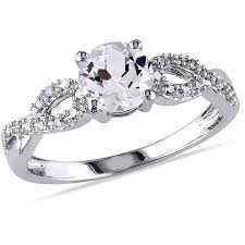 infinity engagement rings miabella 1 10 carat t w and 1 carat t g w created white
