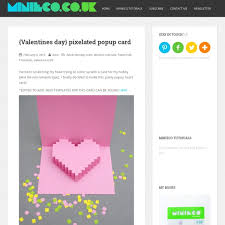 valentines day easy pixelated popup card pearltrees