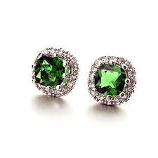 gaudy earrings emerald earrings