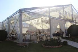 Canopy Tent Wedding by This Clear Span Marquee Is Equipped With Clear Pvc Fabric For Roof