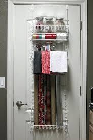 door wrapping paper hanging gift wrap storage door hanging gift wrap organizer