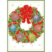 caspari cards imperial ornaments advent calendar greeting card 1 card 1