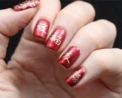 copycat claws chinese new year nail art aka sunday stamping on a