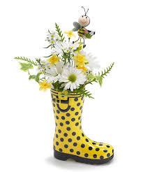 rain boot vase rain boot rain and repurpose