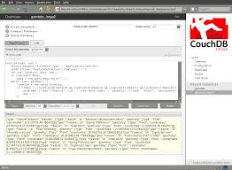 couchdb design document editor list function editing in futon vmx the blllog