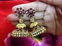 how to make jhumka earrings of square base silk thread jhumka silk thread