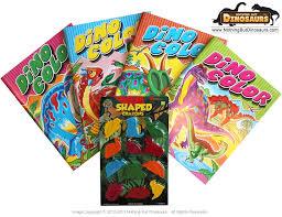 dinosaur coloring book 4 dino crayons