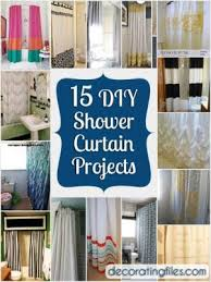 Shower Curtain Ideas Pictures Try These 15 Simple Diy Shower Curtain Ideas Diylife Co