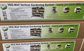 gro products veg wall vertical gardening system costco weekender