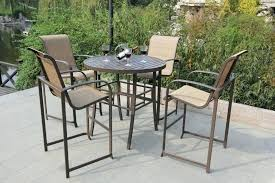 Patio Chairs Bar Height Bar Height Patio Table And Chairs Square Modern Iron