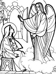 depiction of an angel appears to mary coloring pages bulk color
