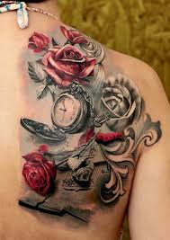 25 unique mens rose tattoos ideas on pinterest pocket watch