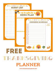 free thanksgiving planner with 5 printables to help keep you