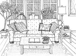 Sofa Drawing by Perspective Drawing Drawing Hand