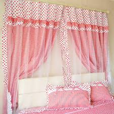 Girls Bedroom Window Treatments Red Gingham Check Shower Curtain Curtain Red White Check Gingham