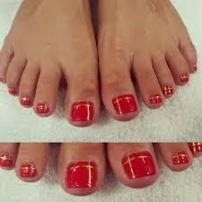 25 red toe nail art designs ideas design trends premium psd