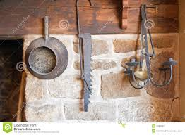 antique tools in country kitchen stock image image 14997611