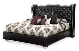 Black Leather Bedroom Furniture by Decorating Eden Poster Bedroom Collection From Michael Amini