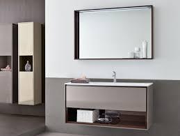 bathroom mesmerizing brown wooden frame wall mirror sink