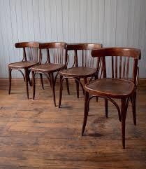 vintage mid century bistro cafe kitchen chairs bentwood fischel