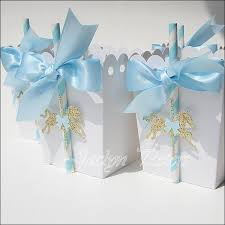 Blue Favor Boxes by Blue Gold Carousel Popcorn Favor Boxes Peters