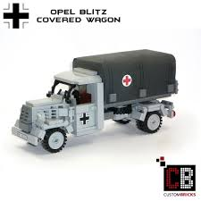 opel blitz with flak 38 custombricks de lego ww2 wwii wehrmacht willys jeep mit m416