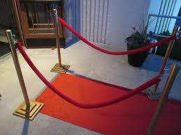 home made theater diy red carpet stanchions white elephant creations