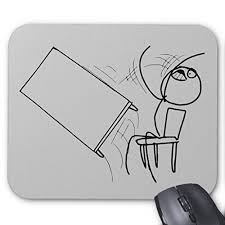 Meme Face Computer - zazzle table flip flipping rage face meme mouse pad antagongame
