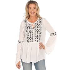 peasant blouse shop s roper white peasant blouse w black embroidery