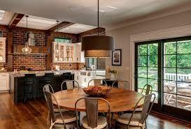 cuisine avec mur en mur briques exposées dans la cuisine une très idée déco