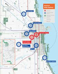 Chicago Suburbs Map Chicago Reveals Formal Bid For Amazon U0027s U0027hq2 U0027 Headquarters