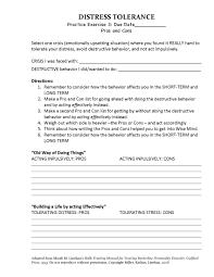 dbt distress tolerance pros cons homework assignment 3