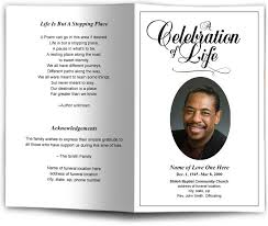 funeral programs templates free funeral program obituary templates memorial services inside