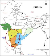 Goa Map Distribution Map Of Curcuma Inodora In India A Indicates