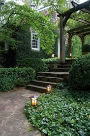 backyard exterior hanging lantern landscape rock garden