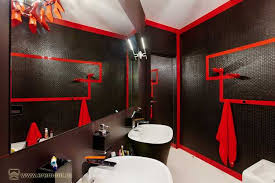 Red And Black Bathroom Decorating Ideas Bathroom Designs Black And Red Interior Design