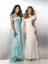 one shoulder tiffany blue or ivory chiffon prom dresses 2012