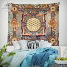 Tapestry On Bedroom Wall Sacred Art Artbedding