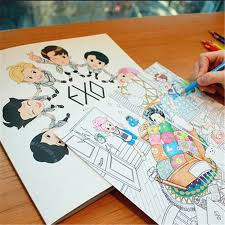 Pcmos Kpop Exo Coloring Book A Day In Exoplanet Daily Life Coloring Pages Kpop